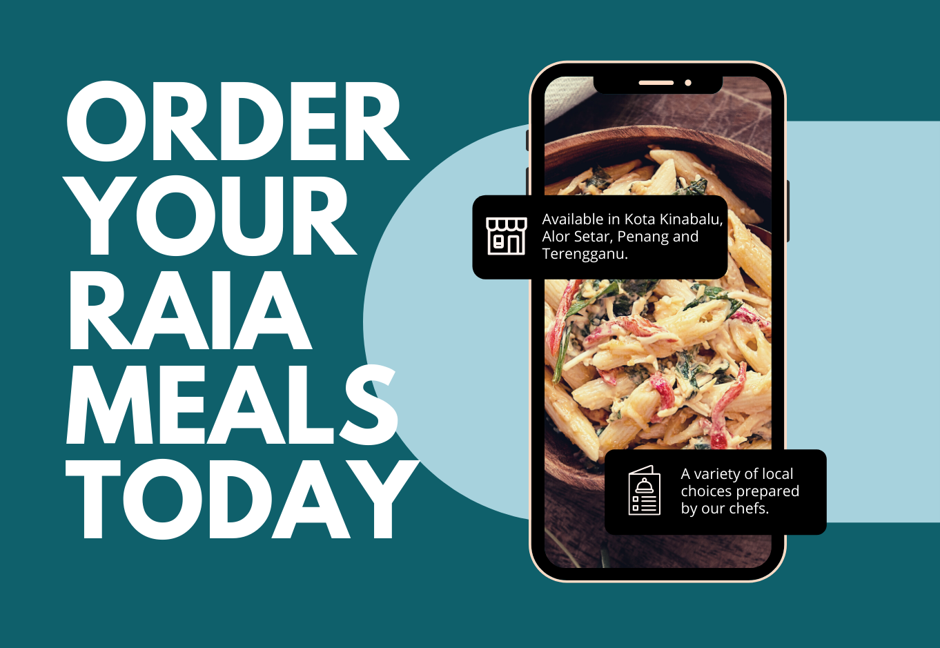 Image for ORDER YOUR RAIA MEALS TODAY